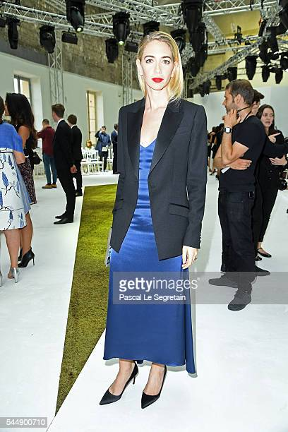 Sabine Getty attends the Giambattista Valli Haute Couture Fall/Winter 20162017 show as part of Paris Fashion Week on July 4 2016 in Paris France