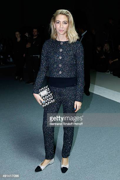Sabine Getty attends the Giambattista Valli show as part of the Paris Fashion Week Womenswear Spring/Summer 2016 Held at Grand Palais on October 5...