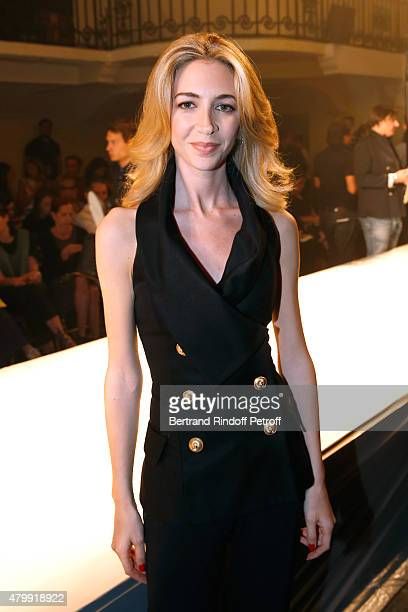 Sabine Getty attends the Jean Paul Gaultier show as part of Paris Fashion Week HauteCouture Fall/Winter 2015/2016 on July 8 2015 in Paris France