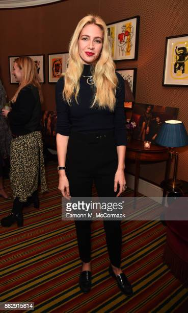 Sabine Getty attends the Julia RestoinRoitfeld Christmas Edit for Warehouse launch at Mark's Club on October 18 2017 in London England