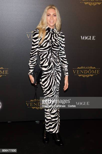 Sabine Getty attends Vogue Party as part of the Paris Fashion Week Womenswear Spring/Summer 2018 at on October 1 2017 in Paris France