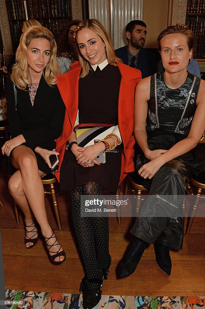 Sabine Getty Elisabeth von Thurn und Taxis and Olympia Scarry attend as Christian Dior showcases its spring summer 2017 cruise collection at Blenheim...