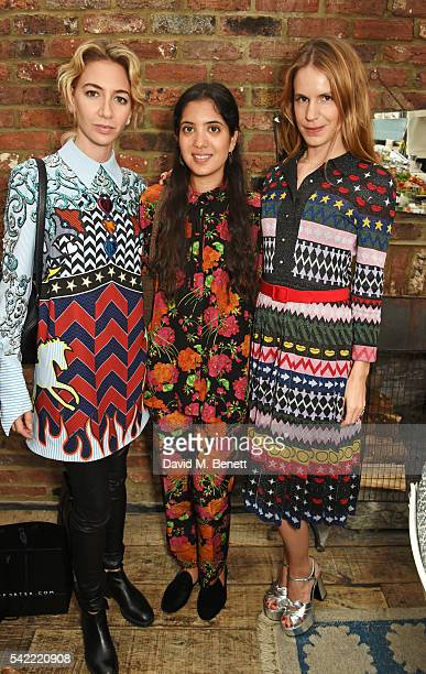 Sabine Getty Noor Fares and Eugenie Niarchos attend a private lunch hosted by Mary Katrantzou and Anastasia Koutsioukis to celebrate summer with...