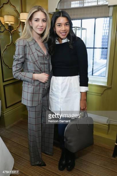 Sabine Ghanem and Hannah Bronfman attend a lunch in honor of jewelry designer Sabine Ghanem hosted by Leandra Medine and Elizabeth von der Goltz at...