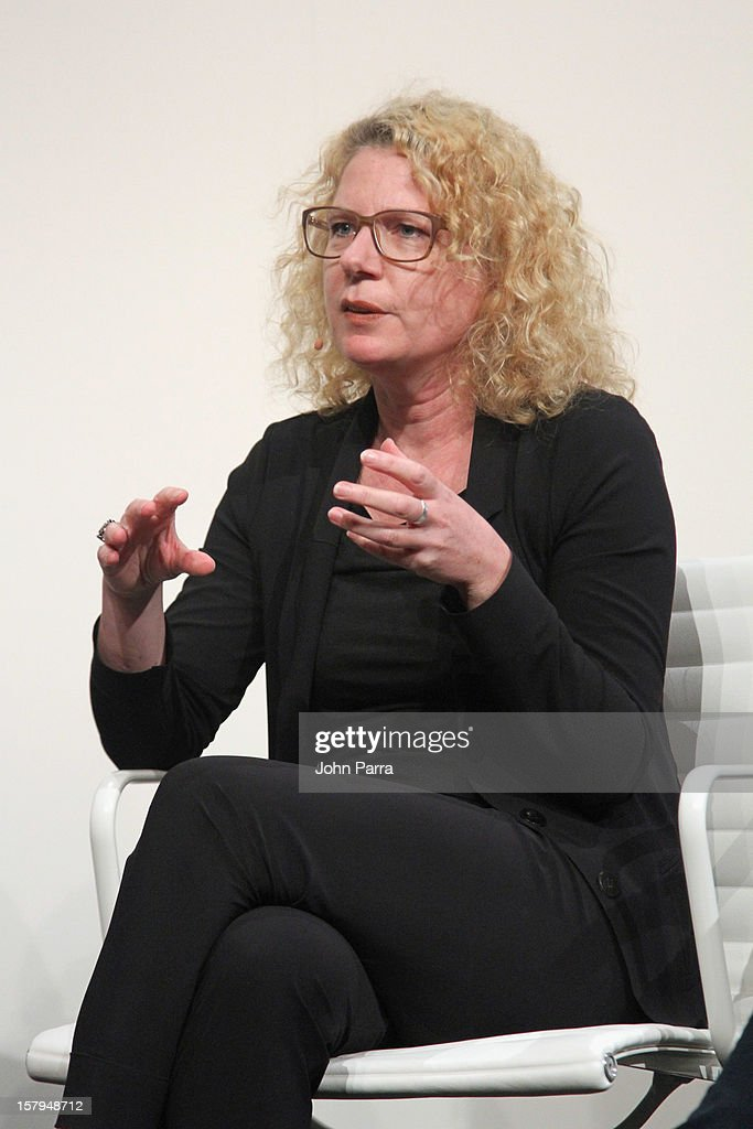 Sabine Himmelsbach, Director, House of Electronic Arts speaks during Art Salon at Art Basel Miami Beach 2012 at the Miami Beach Convention Center on December 7, 2012 in Miami Beach, Florida.
