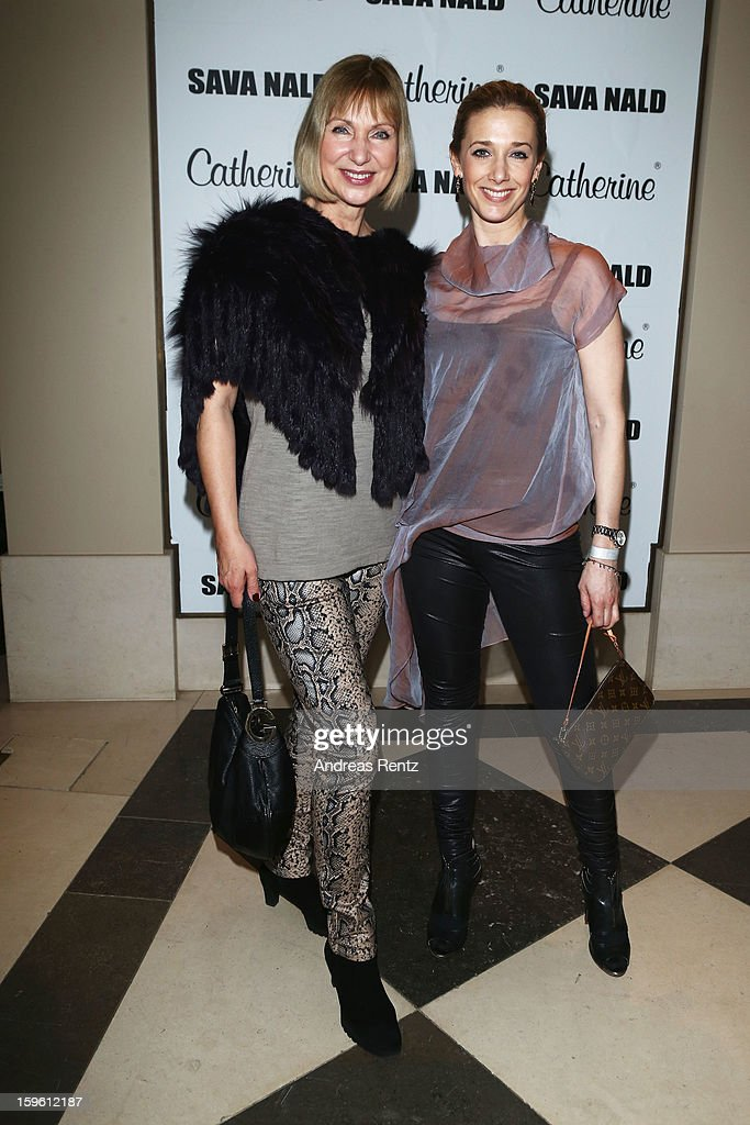 Sabine Kaack and Kristin Meyer attend Sava Nald Autumn/Winter 2013/14 fashion show during Mercedes-Benz Fashion Week Berlin at Hotel Adlon Kempinski on January 17, 2013 in Berlin, Germany.