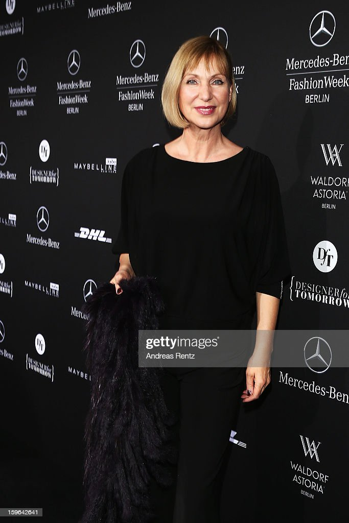 Sabine Kaack attends Guido Maria Kretschmer Autumn/Winter 2013/14 fashion show during Mercedes-Benz Fashion Week Berlin at Brandenburg Gate on January 17, 2013 in Berlin, Germany.