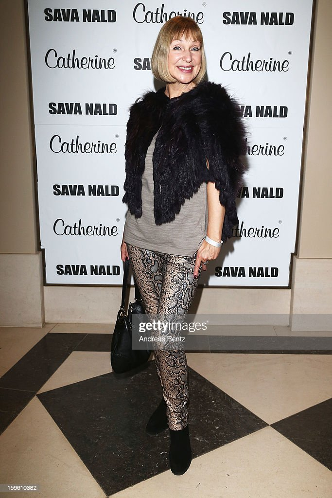 Sabine Kaack attends Sava Nald Autumn/Winter 2013/14 fashion show during MercedesBenz Fashion Week Berlin at Hotel Adlon Kempinski on January 17 2013...