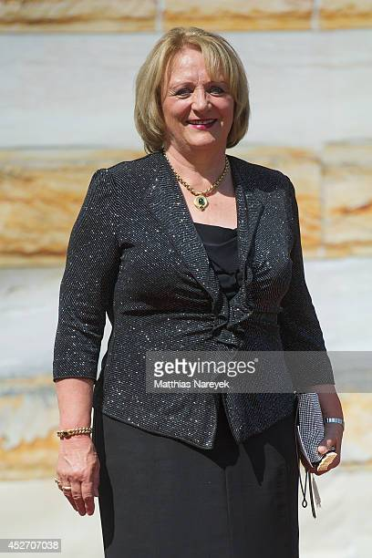 Sabine LeutheuserSchnarrenberger attends the Bayreuth Festival Opening 2014 on July 25 2014 in Bayreuth Germany