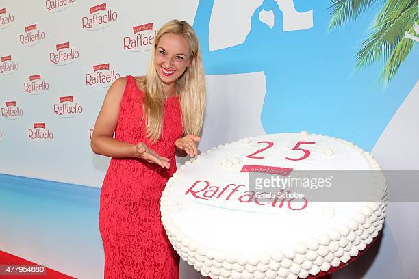 Sabine Lisicki at the birthday cake during the Raffaello Summer Day 2015 to celebrate the 25th anniversary of Raffaello on June 20 2015 in Berlin...