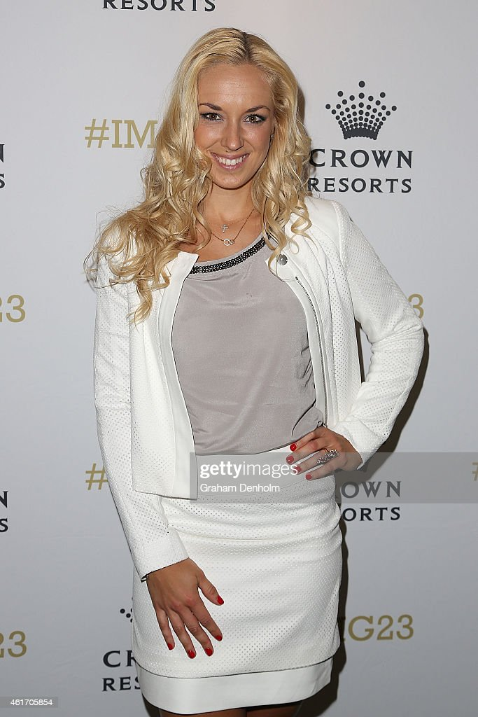 <a gi-track='captionPersonalityLinkClicked' href=/galleries/search?phrase=Sabine+Lisicki&family=editorial&specificpeople=645395 ng-click='$event.stopPropagation()'>Sabine Lisicki</a> of Germany arrives for Crown's IMG@23 Tennis Players' Party at Crown Entertainment Complex on January 18, 2015 in Melbourne, Australia.
