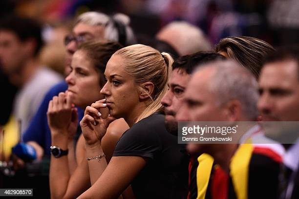 Sabine Lisicki of Germany looks on during the Fed Cup 2015 First Round tennis between Germany and Australia at PorscheArena on February 7 2015 in...
