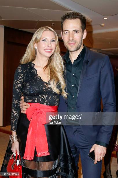 Sabine Piller and German presenter Alexander Mazza during the Kempinski Fashion Dinner on May 23 2017 in Munich Germany