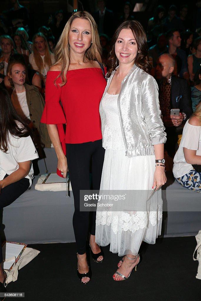 Sabine Piller (L) and Jana Wagenknecht attend the Rebekka Ruetz show during the Mercedes-Benz Fashion Week Berlin Spring/Summer 2017 at Erika Hess Eisstadion on June 29, 2016 in Berlin, Germany.