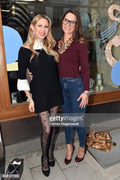 Sabine Piller and Nicole Hayduga during 'Marcell von Berlin Store Opening' on March 4 2017 in Munich Germany