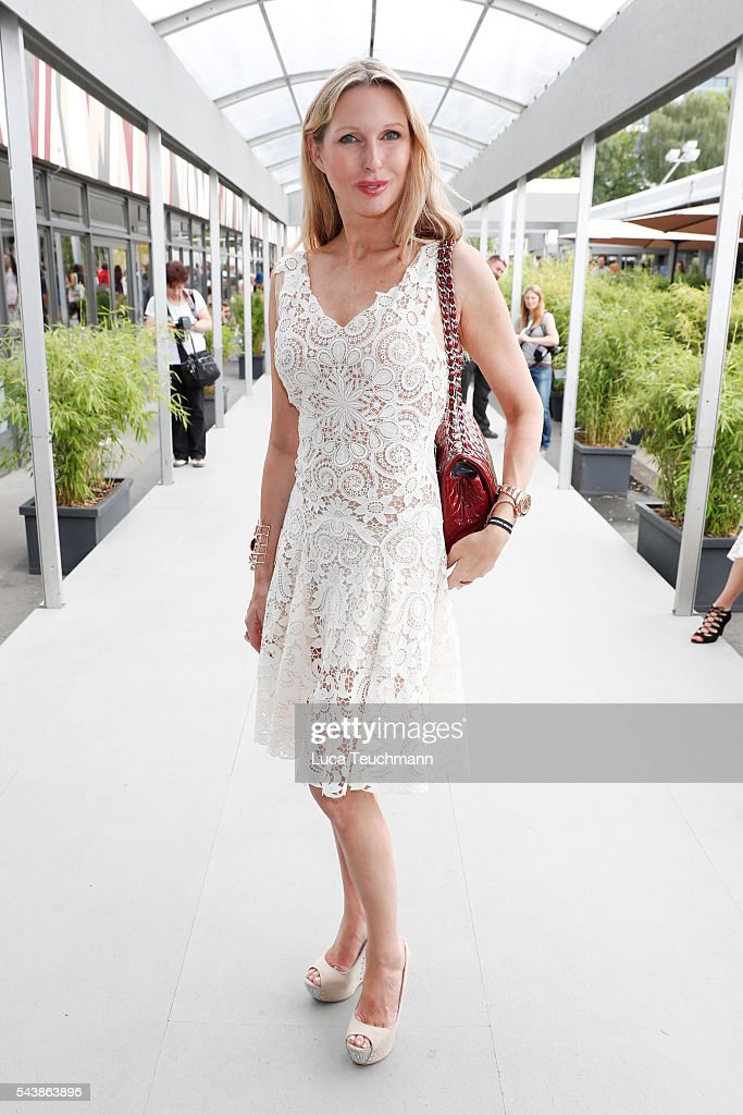 Sabine Piller attends the Lena Hoschek show during the Mercedes-Benz Fashion Week Berlin Spring/Summer 2017 at Erika Hess Eisstadion on June 30, 2016 in Berlin, Germany.