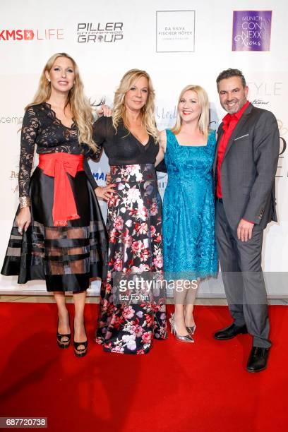Sabine Piller Birgit FischerHoeper German presenter Alexandra Bechtel and Pedro Da Silva attend the Kempinski Fashion Dinner on May 23 2017 in Munich...