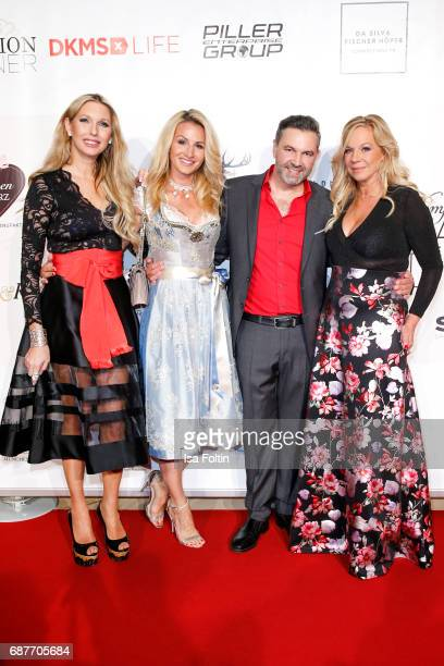 Sabine Piller Birgit FischerHoeper Pedro Da Silva and guest attend the Kempinski Fashion Dinner on May 23 2017 in Munich Germany