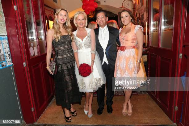 Sabine Piller Bride Astrid Soell and bridegroom Volker Woehrle and Simone Ballack during the wedding party of dirndl fashion designer Astrid Soell...