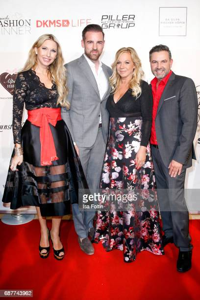 Sabine Piller former german soccer player Christoph Metzelder Birgit FischerHoeper and Pedro Da Silva attend the Kempinski Fashion Dinner on May 23...