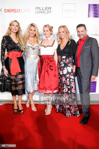 Sabine Piller Nadja zu SchaumburgLippe Birgit FischerHoeper Pedro Da Silva and guest attend the Kempinski Fashion Dinner on May 23 2017 in Munich...