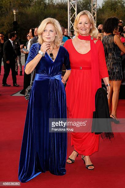 Sabine Postel and Claudia Rieschel attend the red carpet of the Deutscher Fernsehpreis 2014 on October 02 2014 in Cologne Germany