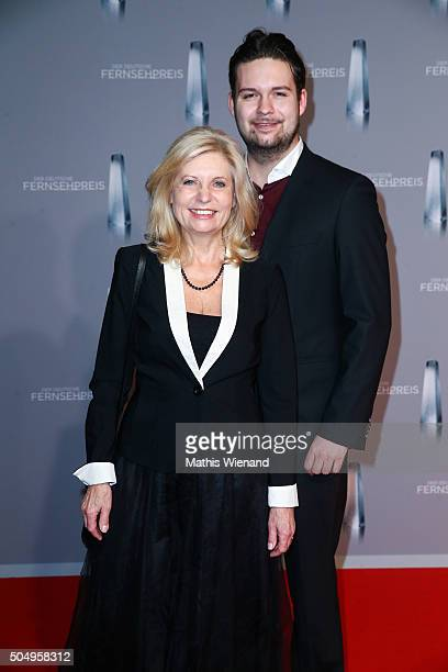 Sabine Postel and her son Moritz Riewoldt attend the German Television Award at Rheinterrasse on January 13 2016 in Duesseldorf Germany