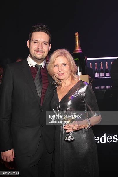 Sabine Postel and her son Moritz Riewoldt during the Bambi Awards 2013 after show party on November 13 2014 in Berlin Germany