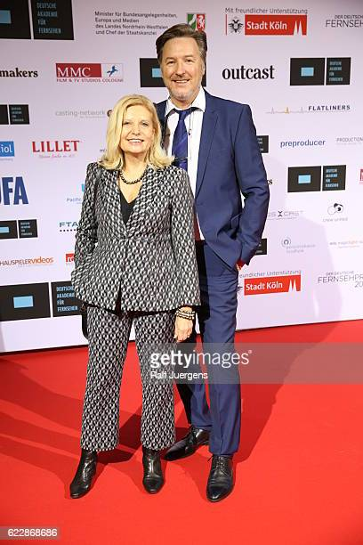 Sabine Postel and Martin Armknecht attend the German television award by the Deutsche Akademie fuer Fernsehen at Museum Ludwig on November 12 2016 in...