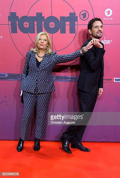 Sabine Postel and Oliver Mommsen attend celebration event of 1000 Episodes of the crime movie 'Tatort' at Cinemaxx Dammtor on November 11 2016 in...