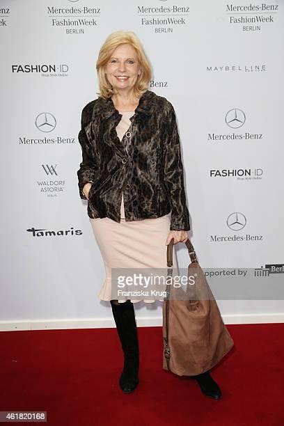 Sabine Postel attends the Minx by Eva Lutz show during the MercedesBenz Fashion Week Berlin Autumn/Winter 2015/16 at Brandenburg Gate on January 20...