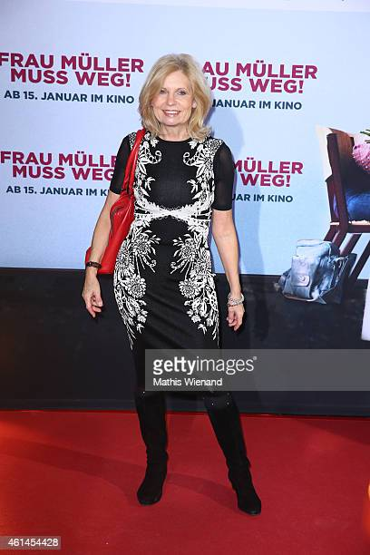 Sabine Postel attends the premiere of the film 'Frau Mueller muss weg' at Cinedom on January 12 2015 in Cologne Germany