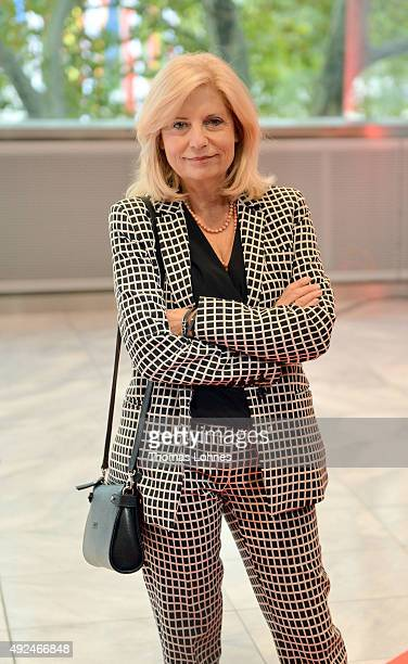 Sabine Postel poses before the opening ceremony of the 2015 Frankfurt Book Fair on October 13 2015 in Frankfurt am Main Germany The 2015 fair which...