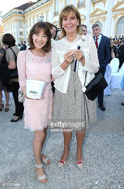 Sabine Sauer and Princess Ursula Uschi of Bavaria during the Summer Reception of the Bavarian State Parliament at Schleissheim Palace on July 19 2016...