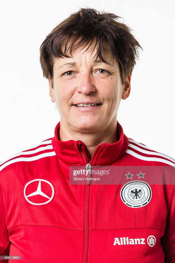 <b>Sabine Seidel</b> poses during U20 Women's Germany Team Presentation on October ... - sabine-seidel-poses-during-u20-womens-germany-team-presentation-on-picture-id493413692