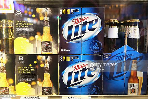 SABMiller products are offered for sale on September 15 2014 in Chicago Illinois Share of SABMiller have surged to an alltime high today on...
