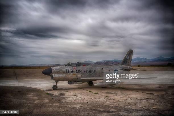 F-86 Sabre Jet at Wendover Air Base, Utah