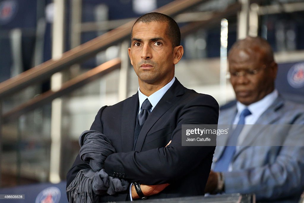 <a gi-track='captionPersonalityLinkClicked' href=/galleries/search?phrase=Sabri+Lamouchi&family=editorial&specificpeople=648801 ng-click='$event.stopPropagation()'>Sabri Lamouchi</a> attends the UEFA Champions League Group F match between Paris Saint-Germain FC and FC Barcelona at the Parc des Princes stadium on September 30, 2014 in Amsterdam, Netherlands.