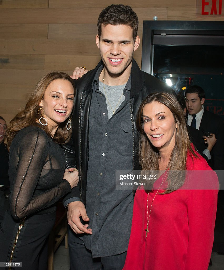 Sabrina Baldieri, New York Nets player Kris Humphries and ONE Group Senior VP Celeste Fierro attend The ONE Group's Ristorante Asellina celebrates two years on Park Avenue South NYC at Ristorante Asselina on February 27, 2013 in New York City.