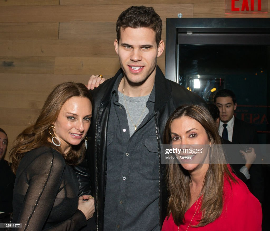 Sabrina Baldieri, New York Nets player <a gi-track='captionPersonalityLinkClicked' href=/galleries/search?phrase=Kris+Humphries&family=editorial&specificpeople=209199 ng-click='$event.stopPropagation()'>Kris Humphries</a> and ONE Group Senior VP Celeste Fierro attend The ONE Group's Ristorante Asellina celebrates two years on Park Avenue South NYC at Ristorante Asselina on February 27, 2013 in New York City.