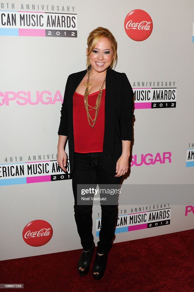 Sabrina Bryan attends the 40th Anniversary American Music Awards Charity Bowl Pre-Party at Lucky Strike Lanes at L.A. Live on November 17, 2012 in Los Angeles, California.