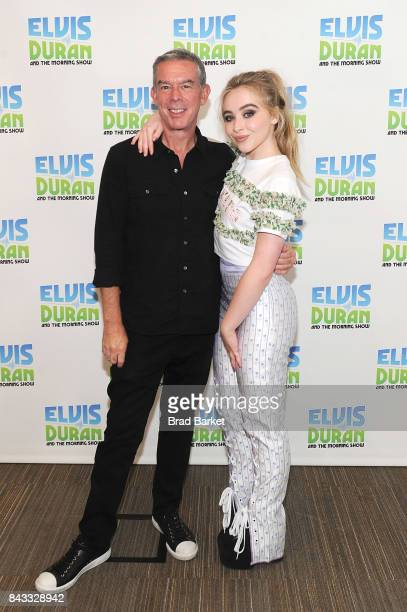 Sabrina Carpenter and Elvis Duran visit 'The Elvis Duran Z100 Morning Show' at Z100 Studio on September 6 2017 in New York City