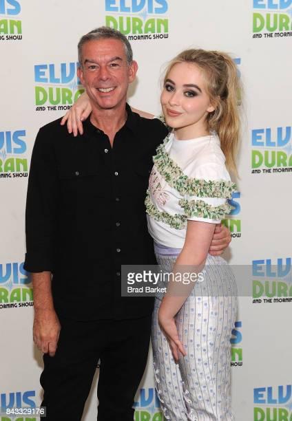 Sabrina Carpenter and Elvis Duran visit 'The Elvis Duran Z100 Morning Show' at Z100 Studio on September 6 2017 in New York City