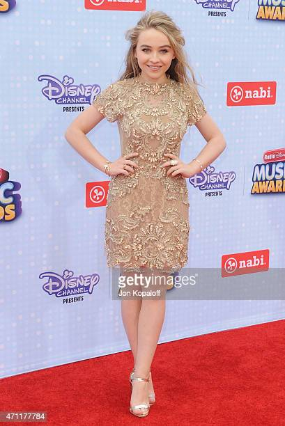Sabrina Carpenter arrives at the 2015 Radio Disney Music Awards at Nokia Theatre LA Live on April 25 2015 in Los Angeles California