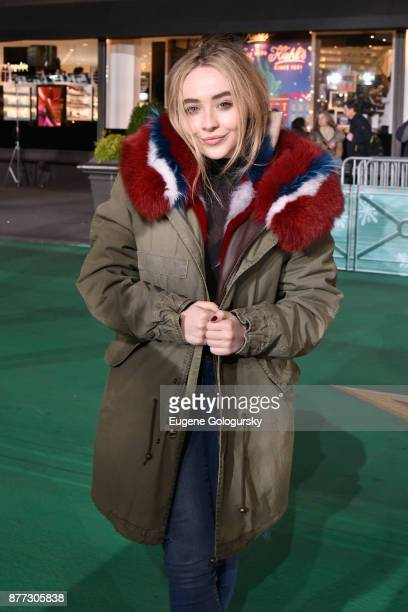 Sabrina Carpenter attends Macy's Thanksgiving Day Parade Talent Rehearsals at Macy's Herald Square on November 21 2017 in New York City