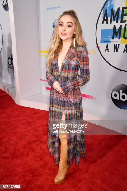 Sabrina Carpenter attends the 2017 American Music Awards at Microsoft Theater on November 19 2017 in Los Angeles California