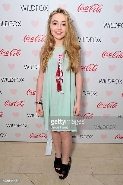 Sabrina Carpenter attends the Launch Party for WILDFOX Loves CocaCola Capsule Collection on October 22 2015 in West Hollywood California