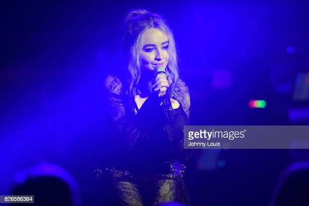 Sabrina Carpenter performs on stage during 'The DeTour' at The Fillmore Miami Beach on August 4 2017 in Miami Beach Florida