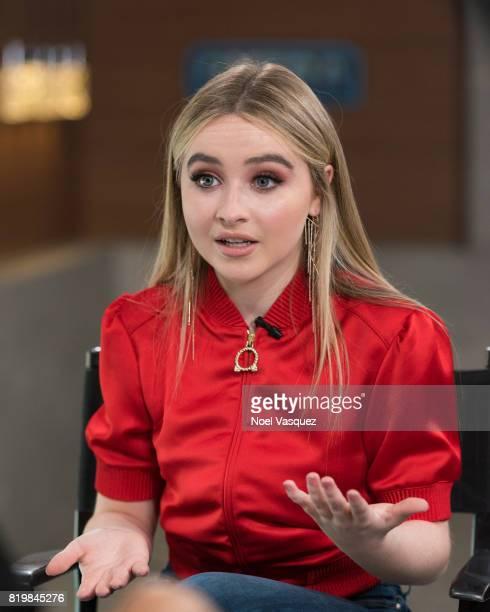 Sabrina Carpenter visits 'Extra' at Universal Studios Hollywood on July 20 2017 in Universal City California