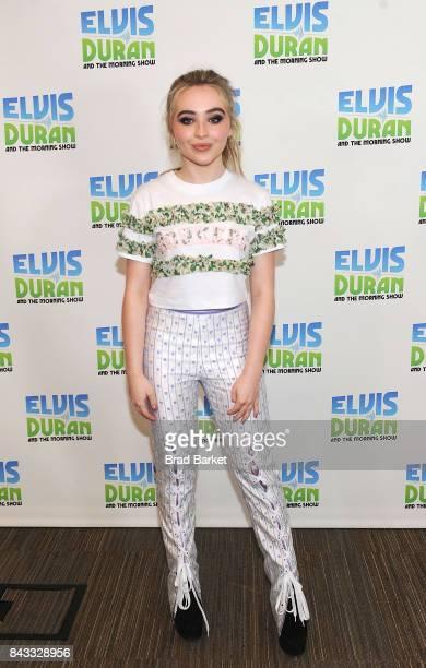 Sabrina Carpenter visits 'The Elvis Duran Z100 Morning Show' at Z100 Studio on September 6 2017 in New York City
